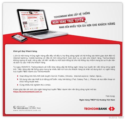 Techcombank nâng cấp dịch vụ F@st i-bank hỗ trợ đa phương thức