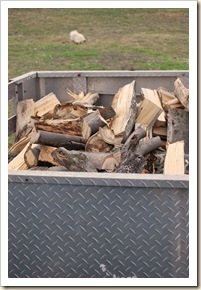 wood in trailer