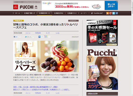 甘味と酸味のコラボ、小果実3種を使ったリトルベリーズパフェ [映像リ・ート] - 北海道PucchiNet.png