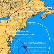 Hurricane Sandy position info