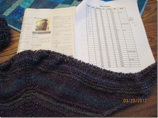 Shawl knitting 001