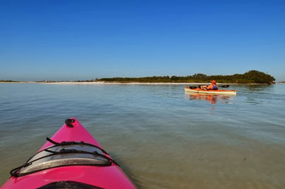 into the slough north of North Beach on Mullet Key
