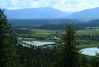 the Columbia wetlands from Radium Hot Springs