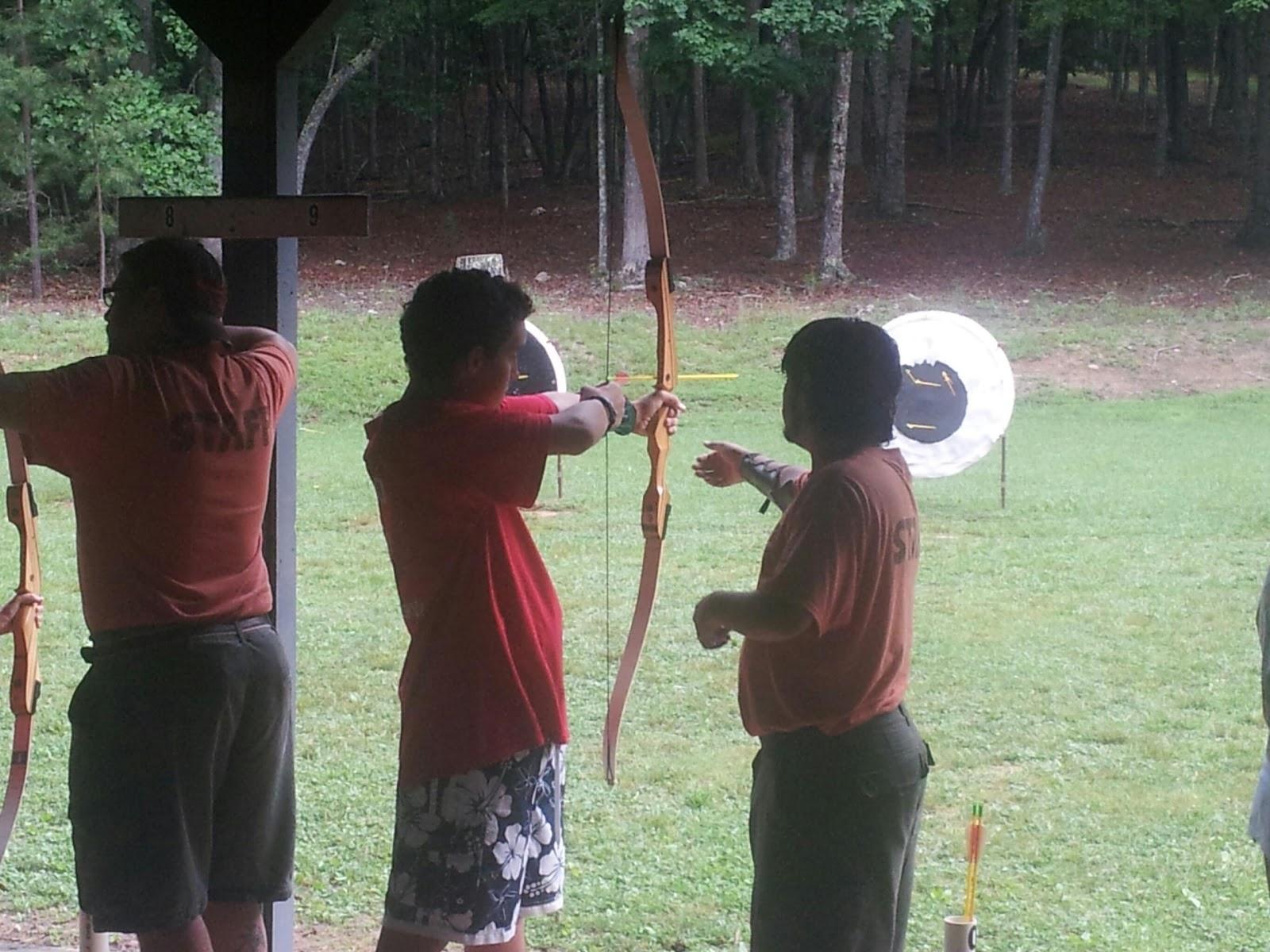 Troop 200 Summer Camp Archery Range