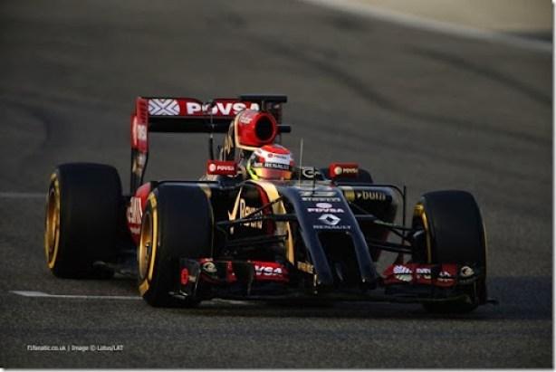 2014 F1 Pre Season Test 2 - Day 4Bahrain International Circuit, Bahrain.Saturday 22 February 2014.Pastor Maldonado, Lotus E22 Renault.World Copyright: Glenn Dunbar/Lotus F1.ref: Digital Image _W2Q4561