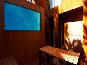 diseño de piscina Villa al Mare por Lanfranco Pollini