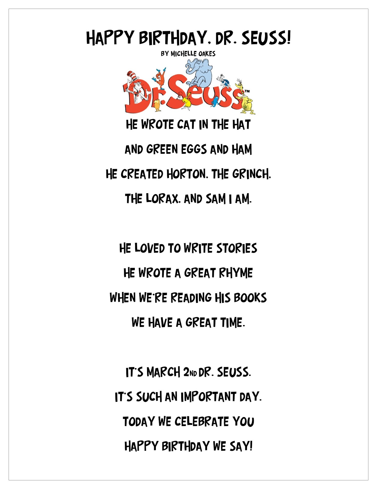 Dr Seuss Happy Birthday To You Quotes 7 Quotes Links