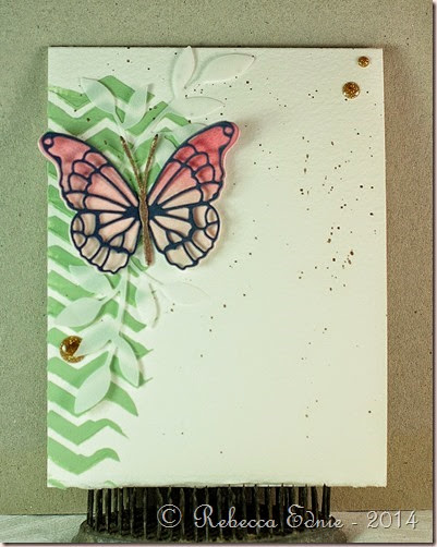 chevron paste butterfly