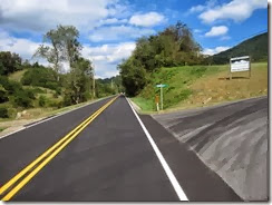 Newly paved Newfound Road
