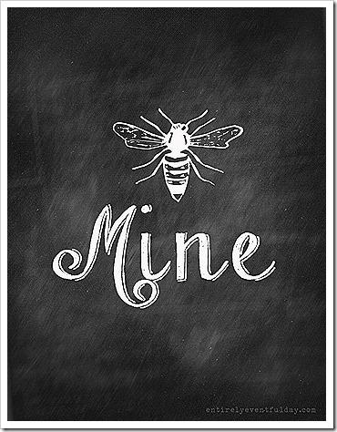 Bee Mine Valentine's Day Printable - Entirely Eventful