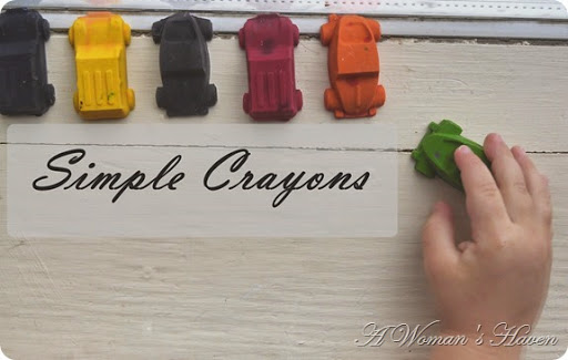 Simple Car Crayons @ http://onewomenshaven.blogspot.com/