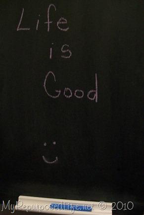 chalkboard cabinet from silverware box