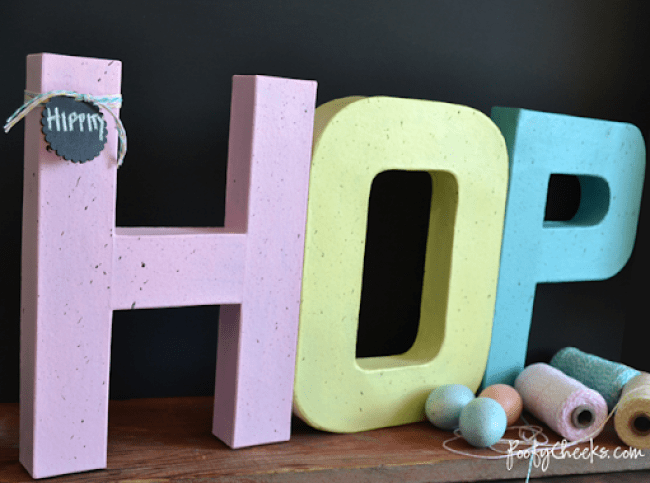 Speckled Easter Egg Letters - paper mache #letters #easter #decoration