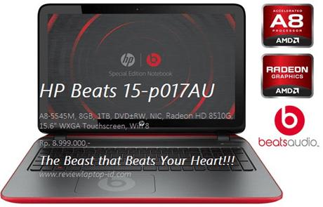 HP Beats 15-p017AU
