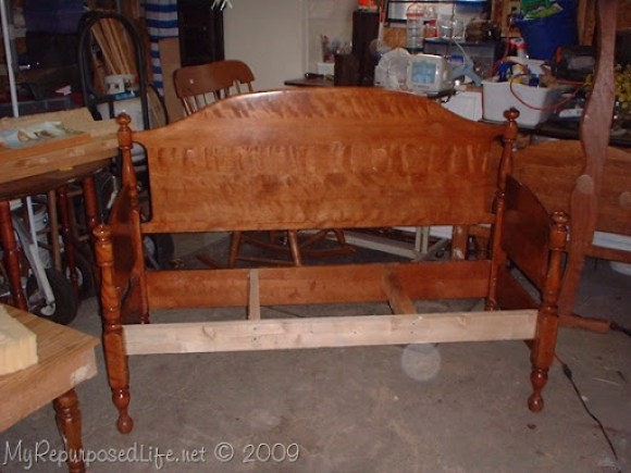 how to make a headboard bench sturdy