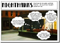 Nighthawks - Edward Hopper and Clayton Talbot