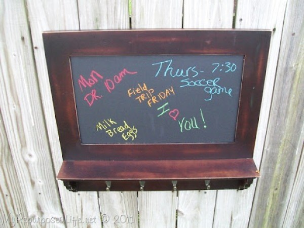 small coat rack chalkboard