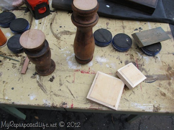 spindle candle sticks (2)
