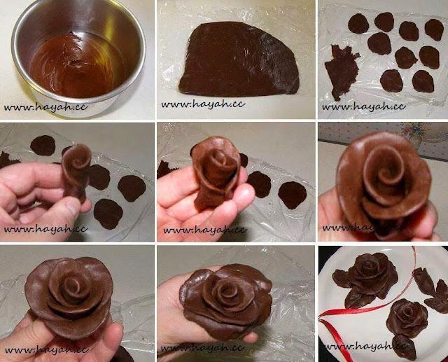 roses en chocolat