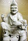 『濟公活佛濟癲師父』一尺三樟木原木雕刻-白身未上保護漆@九龍佛具佛像雕刻