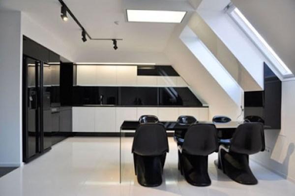 cocina-blanco-negro-diseño Cocinas de diseño