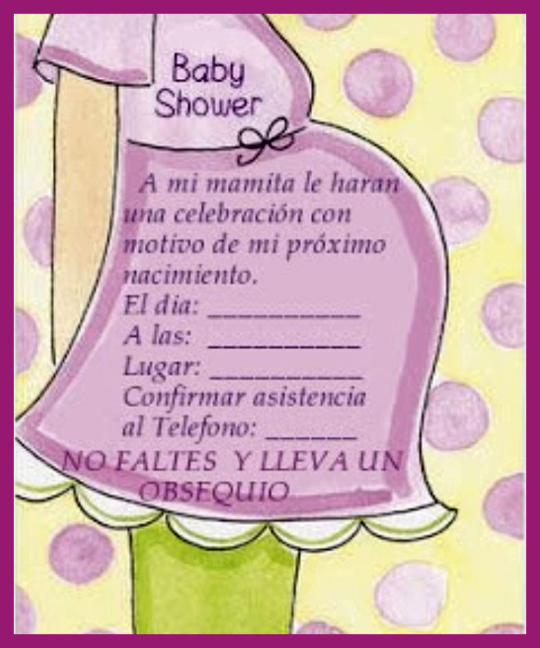 Extraordinario Invitaciones Para Baby Shower Con Frases Bonitas On