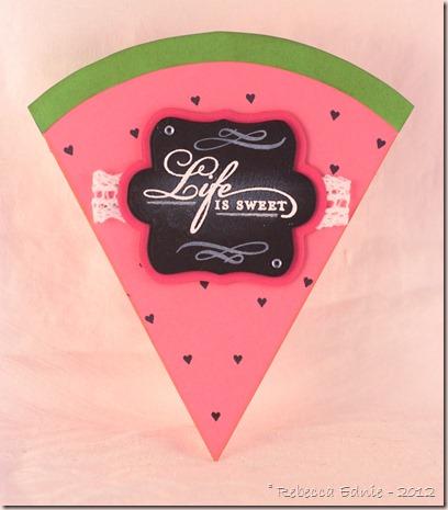 watermelon life is sweet card