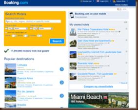 Página do booking