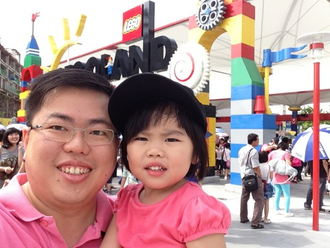 At Legoland Entrance