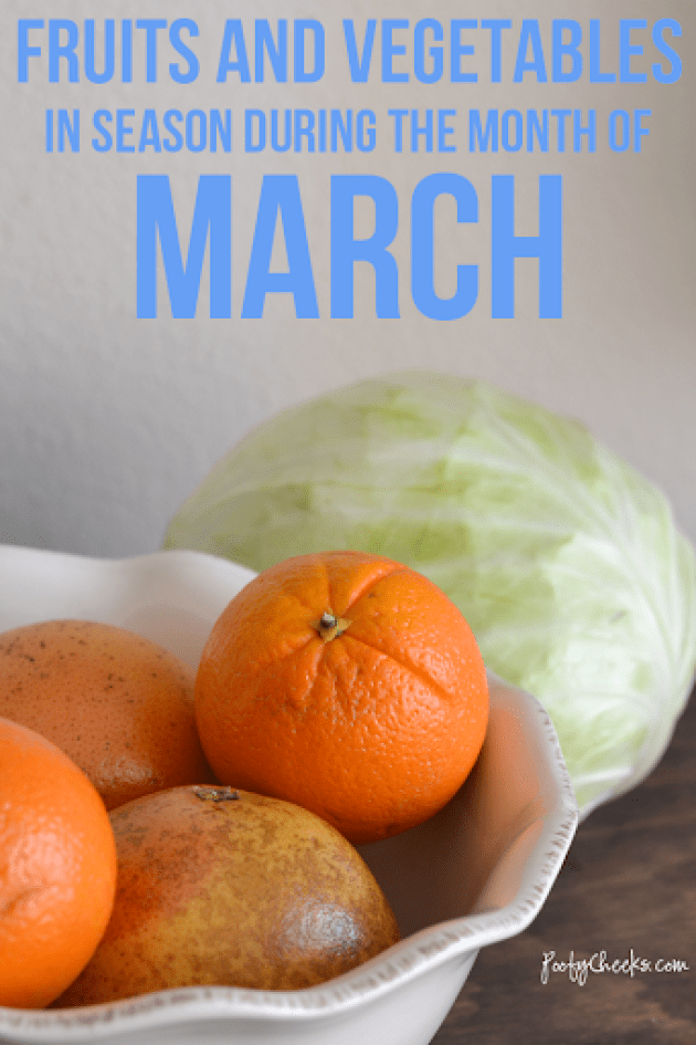 March In-Season Fruits and Vegetables