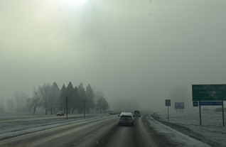 winter inversion in the Rogue Valley