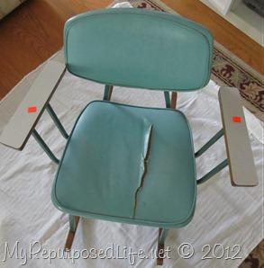 vintage metal rocking chair (2)