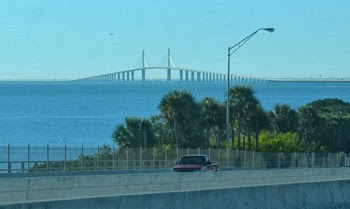 Hard to get a photo from the rig of the skyway