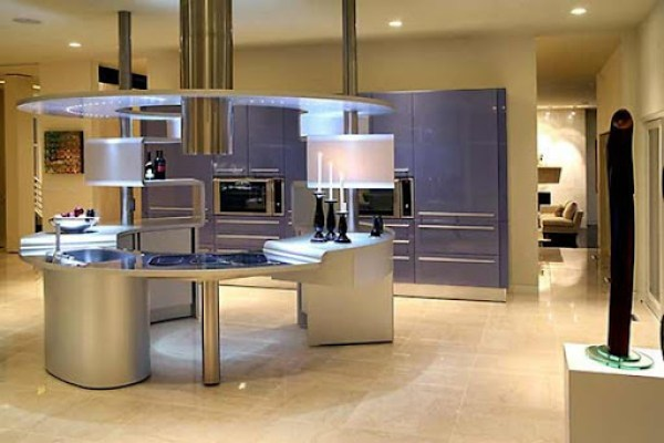iluminacion-cocina-moderna Cocinas de diseño