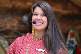 Athabascan young woman telling stories