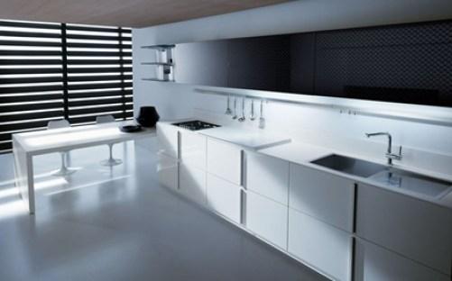 cocina-moderna-minimalista Cocinas modernas blancas