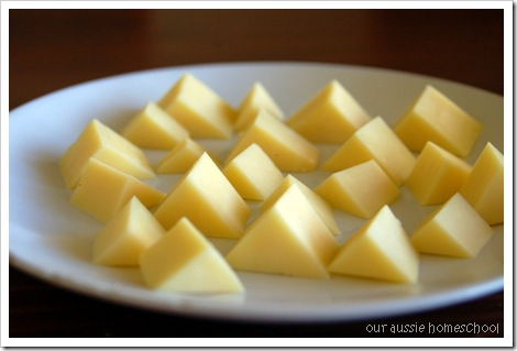 Cheese Pyramids ~ Our Aussie Homeschool