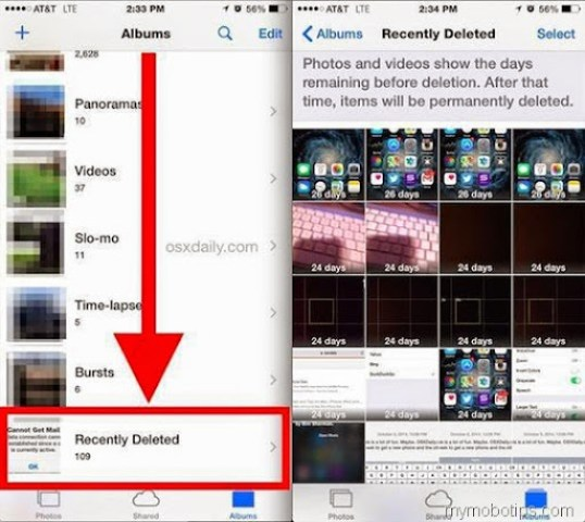 Delete a photos or videos from iOS