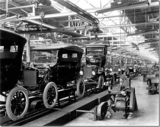 1924 Model T Assembly Line