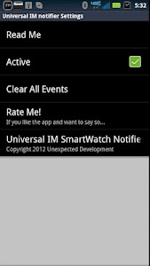 SmartWatch Universal IM screenshot 2