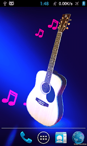 Real 3d guitar live wallpaper screenshot 0
