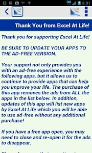 Excel At Life Ad-Free Support screenshot 0