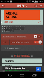 Festivales screenshot 1