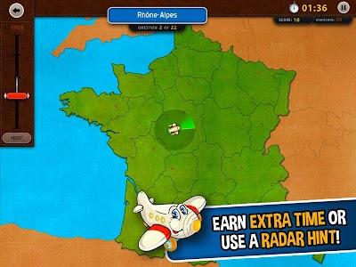 GeoFlight France: Geography screenshot 2