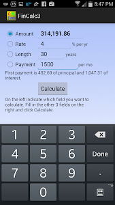 Simple Financial Calculator screenshot 1