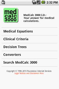 MedCalc 3000 I.D. screenshot 0