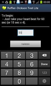 RuffierDickson Cardiotest Lite screenshot 1