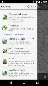 Locus - addon GeoGet Database screenshot 1