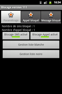 Blocage SMS et Appel screenshot 1