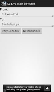 Sri Lankan Live Train Schedule screenshot 2